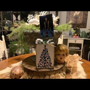 Farmhouse style Curly Christmas Tree photo Block